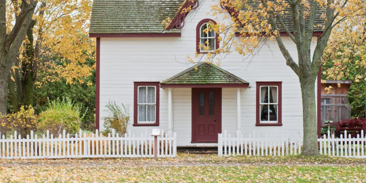 Casa bianca con albero davanti