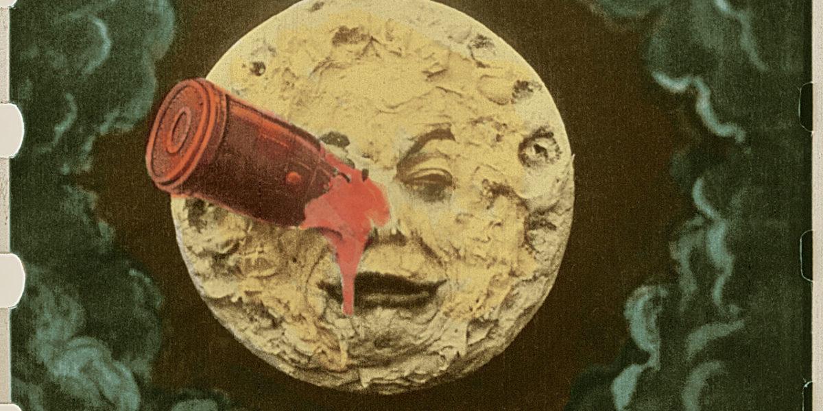 Immagine dal film Le Voyage dans la lune, colorato da Elizabeth Thuillier.