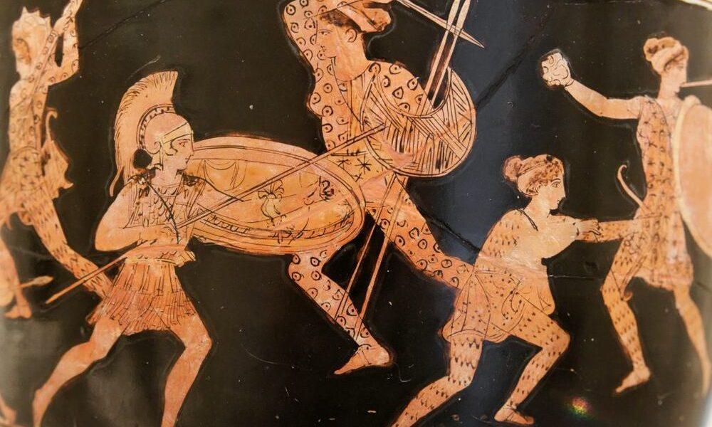 rappresentazione delle Amazzoni su un vaso