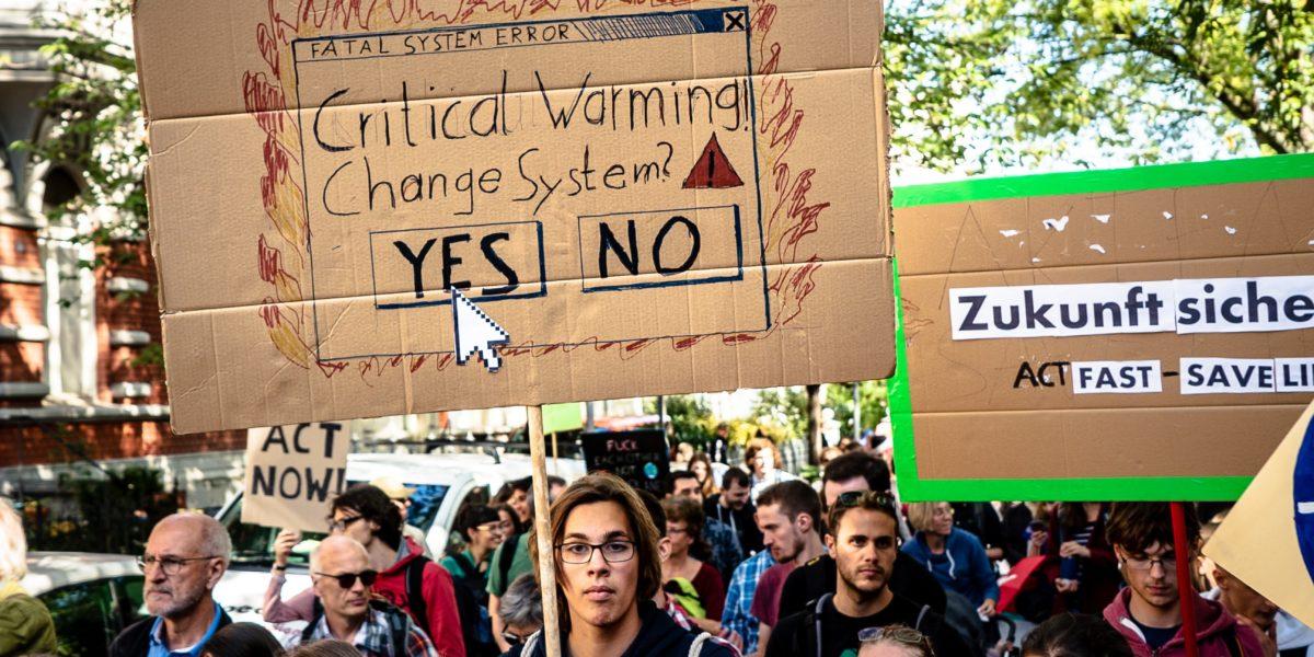Manifestazione contro la crisi climatica