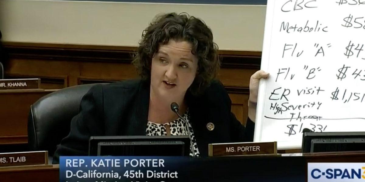Tamponi gratis negli USA grazie a Katie Porter