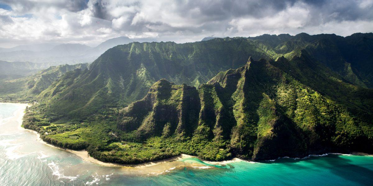 Paesaggio alle Hawaii.